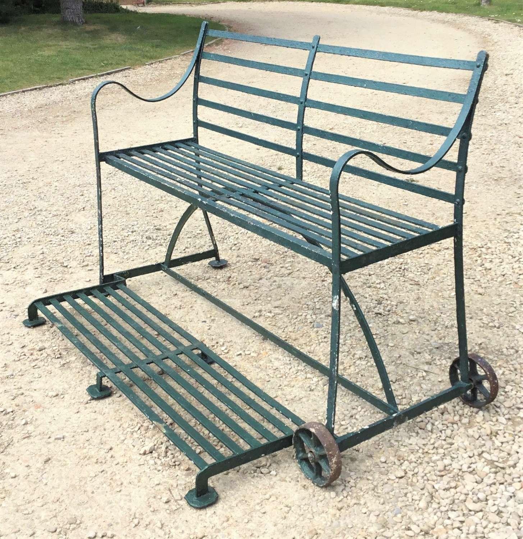Regency wrought iron garden croquet/tennis seat