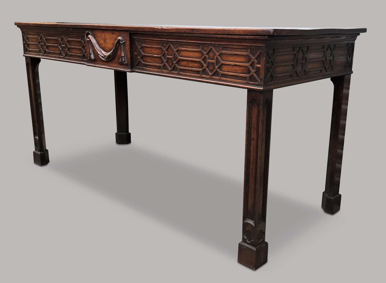 Georgian mahogany serving table/side table