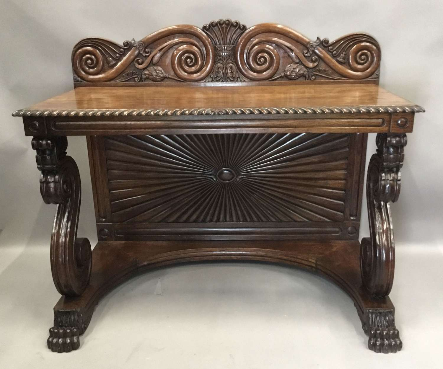 C19th Anglo Indian padouk console / side table